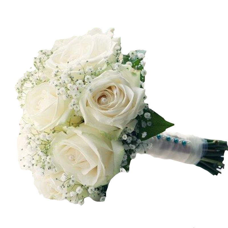 f08757f1d Svadobná kytica WHITE ROSES   Kvetinárstvo Javorka